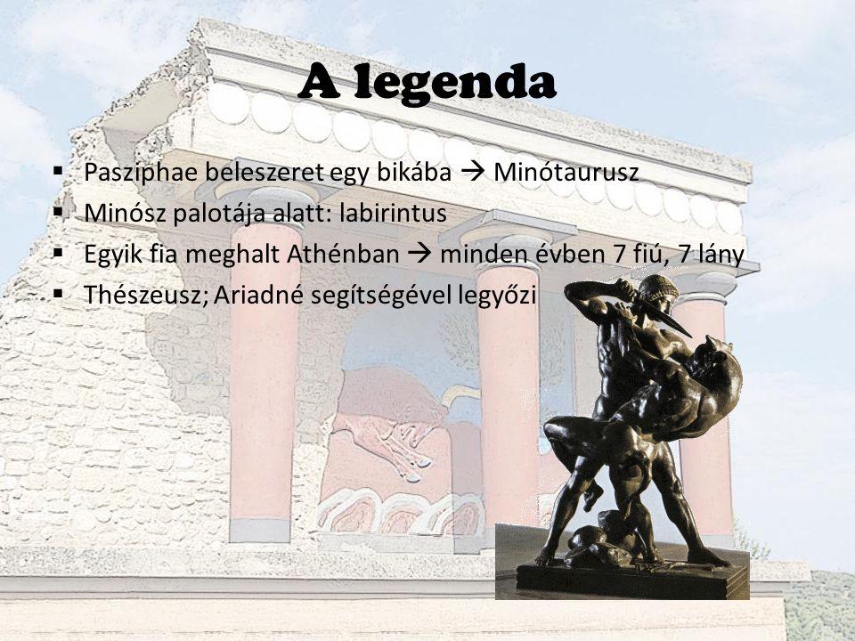 A legenda Pasziphae beleszeret egy bikába  Minótaurusz