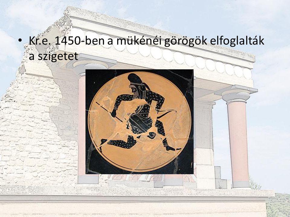 Kr.e. 1450-ben a mükénéi görögök elfoglalták a szigetet