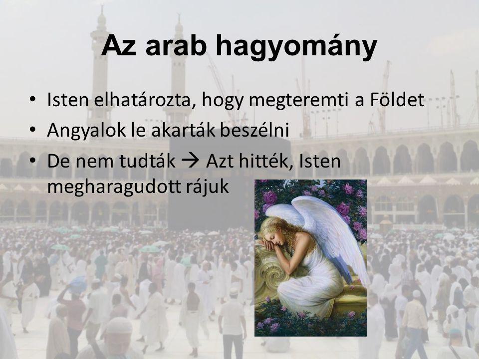 Az arab hagyomány Isten elhatározta, hogy megteremti a Földet