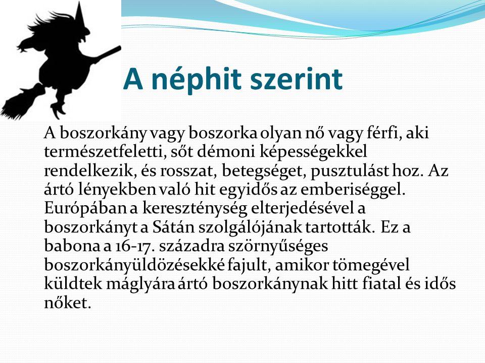 A néphit szerint