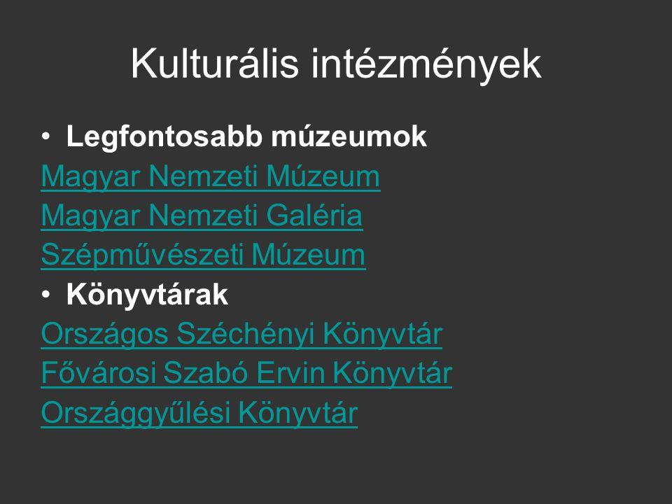 Kulturális intézmények