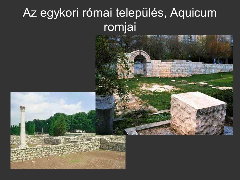 Az egykori római település, Aquicum romjai
