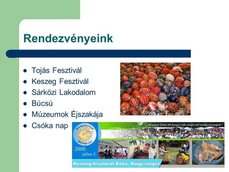 Rendezvényeink Tojás Fesztivál Keszeg Fesztivál Sárközi Lakodalom
