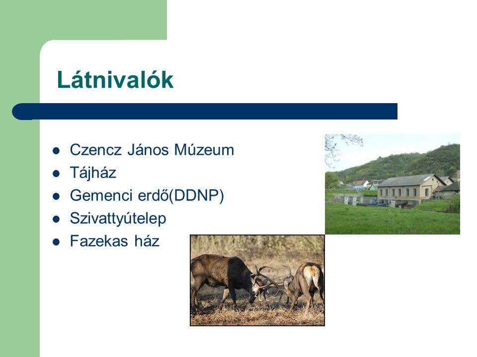 Látnivalók Czencz János Múzeum Tájház Gemenci erdő(DDNP)