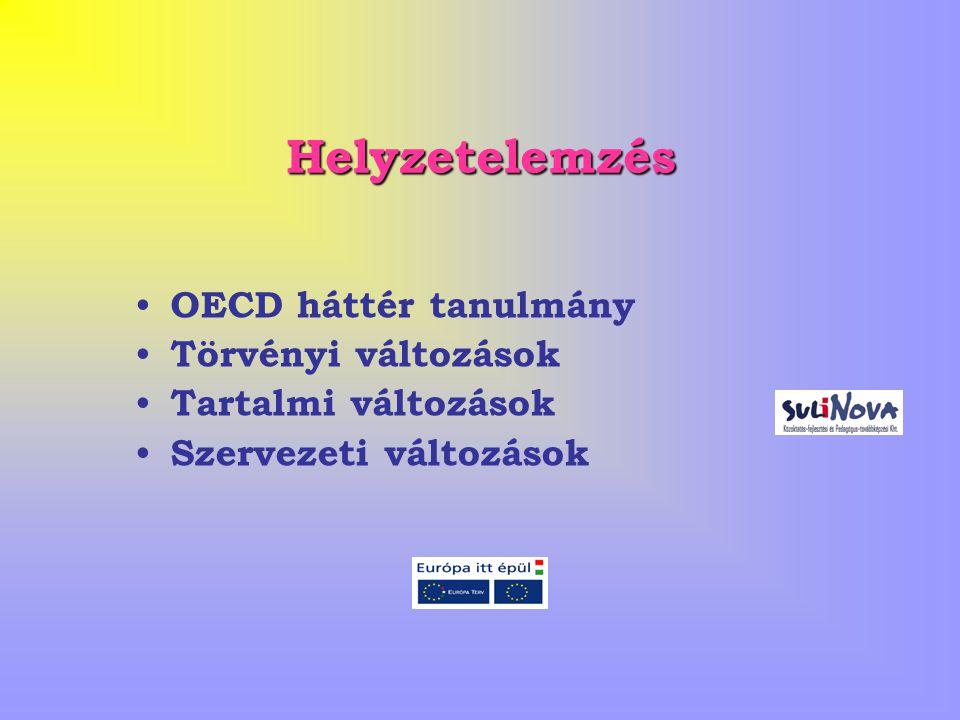 Helyzetelemzés OECD háttér tanulmány Törvényi változások