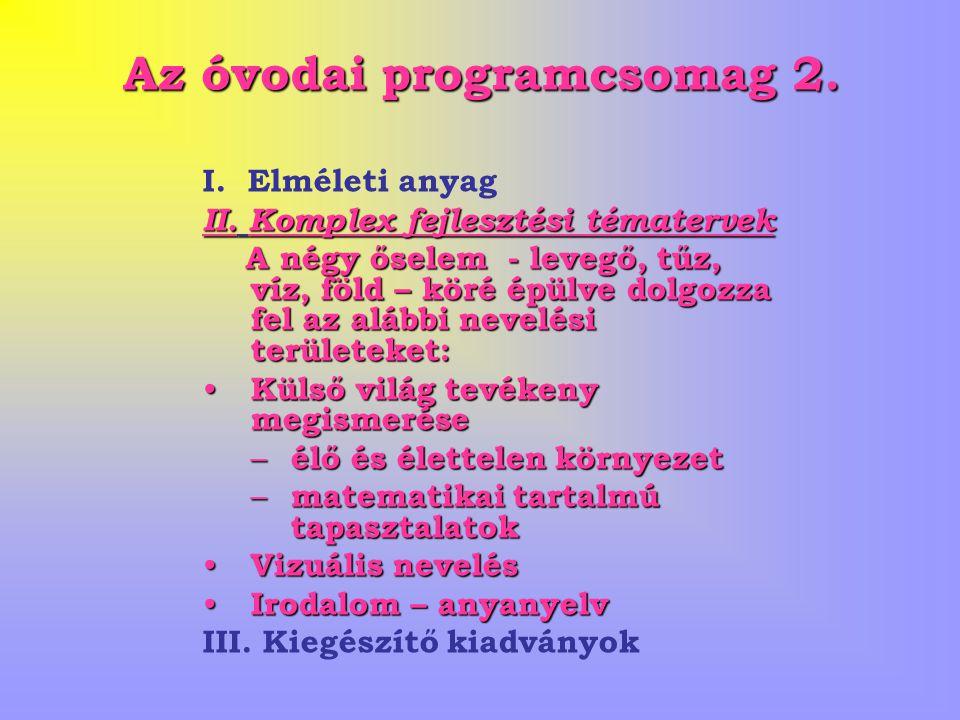 Az óvodai programcsomag 2.