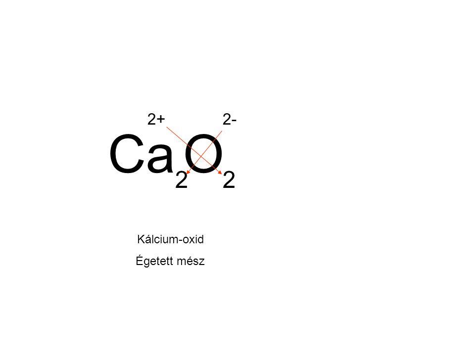 2+ 2- Ca O 2 2 Kálcium-oxid Égetett mész