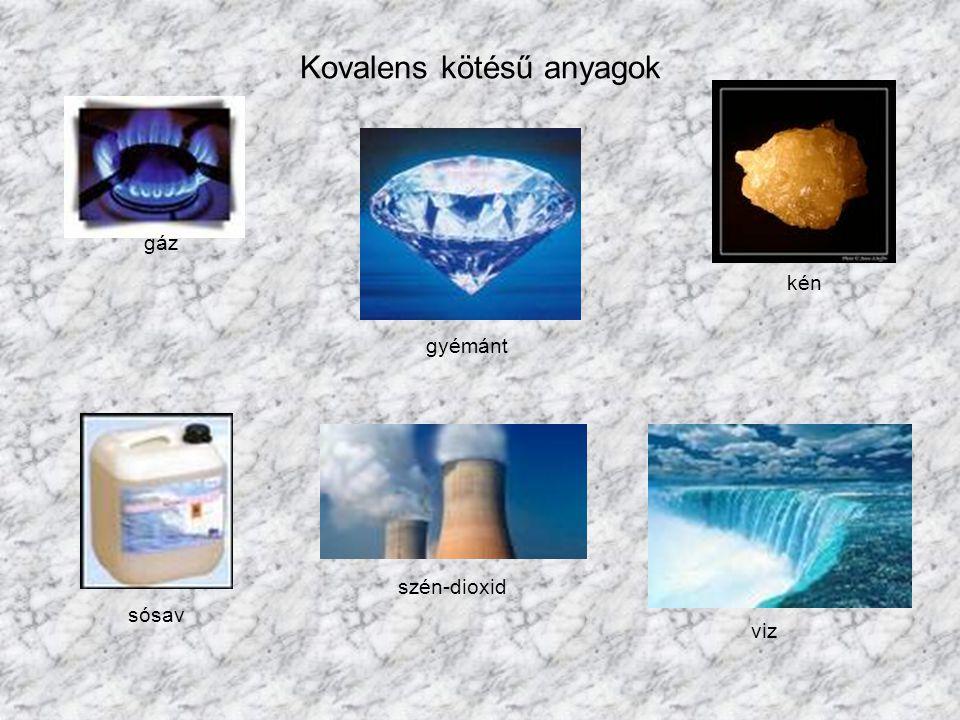 Kovalens kötésű anyagok