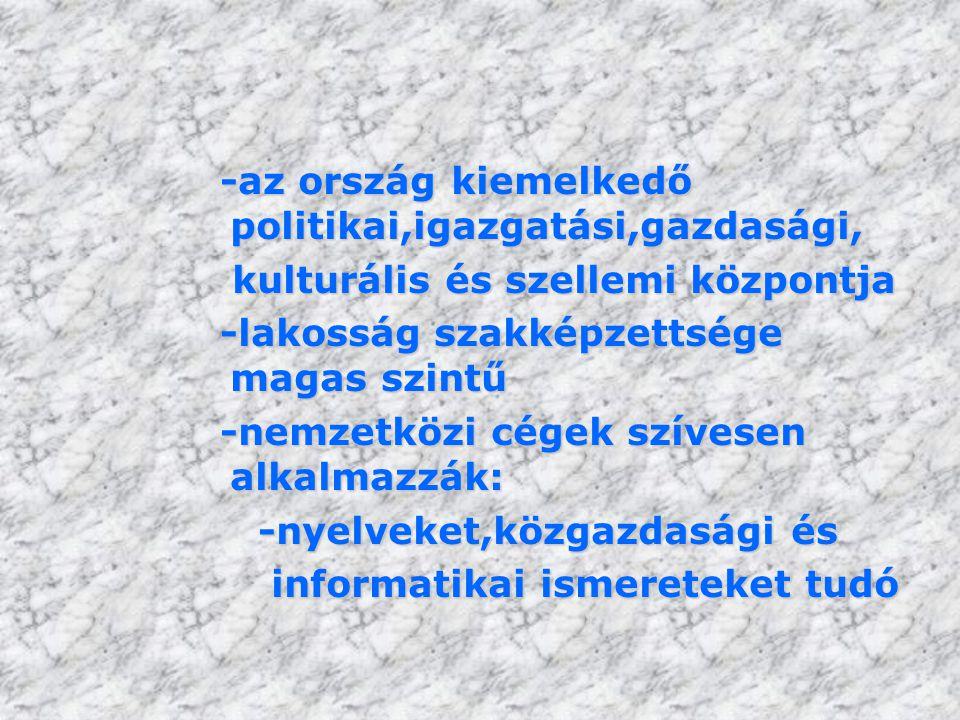 -az ország kiemelkedő politikai,igazgatási,gazdasági,