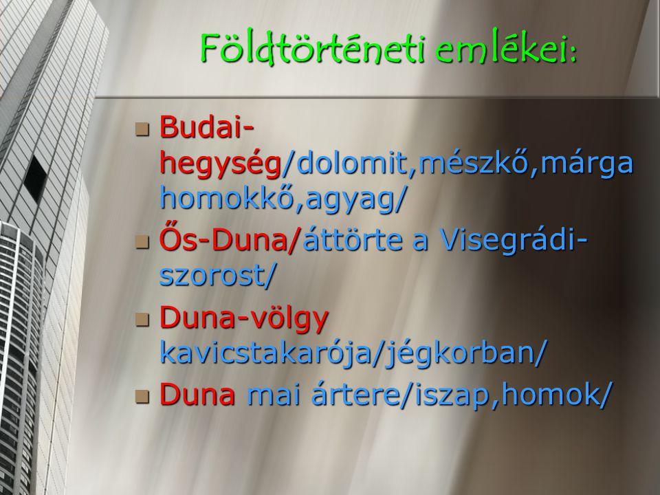 Földtörténeti emlékei: