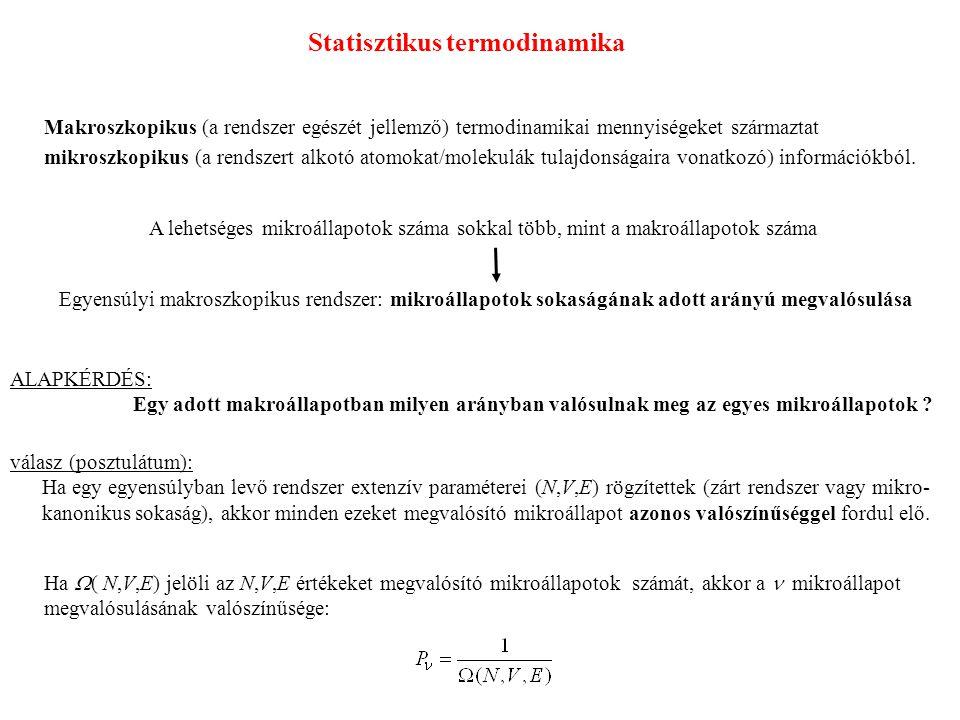 Statisztikus termodinamika