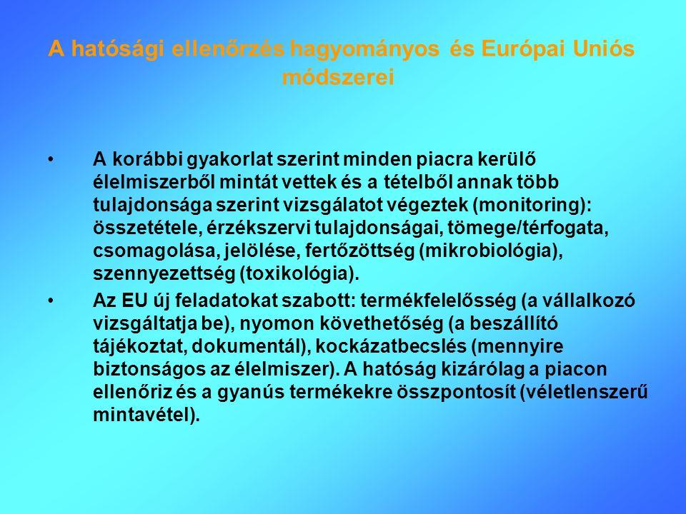 A hatósági ellenőrzés hagyományos és Európai Uniós módszerei