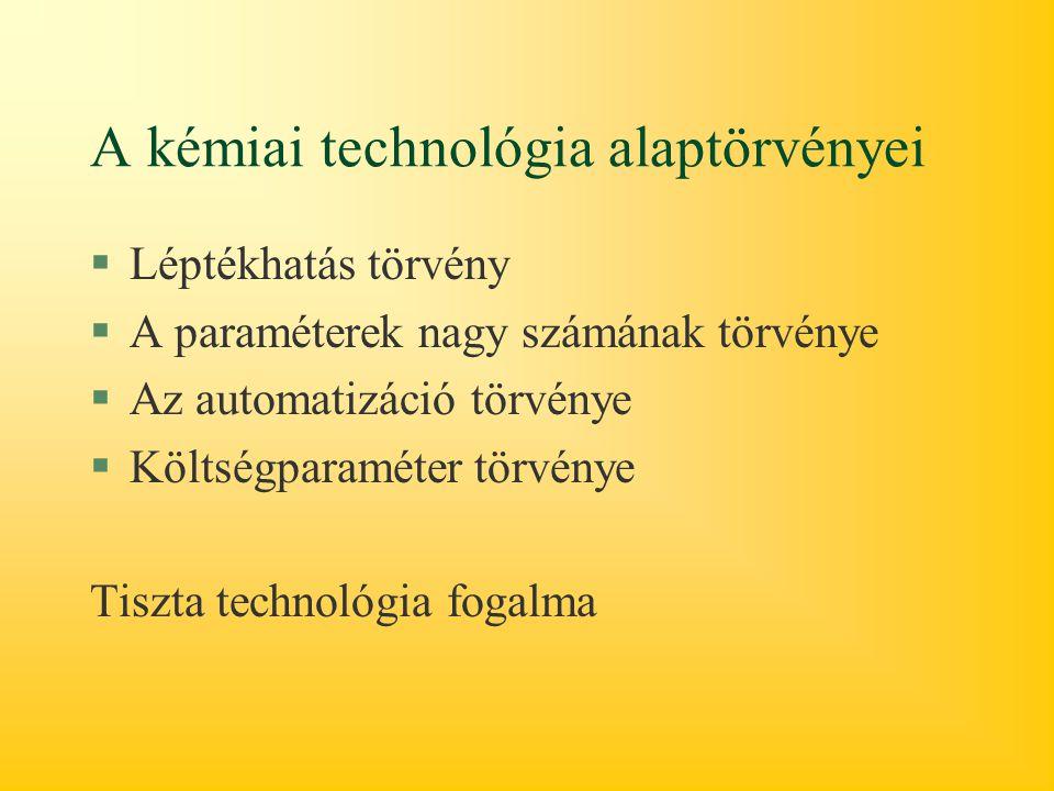 A kémiai technológia alaptörvényei