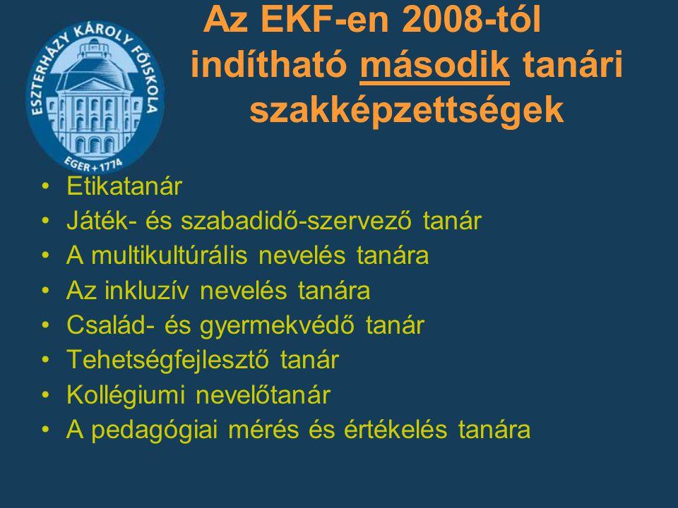 Az EKF-en 2008-tól indítható második tanári szakképzettségek