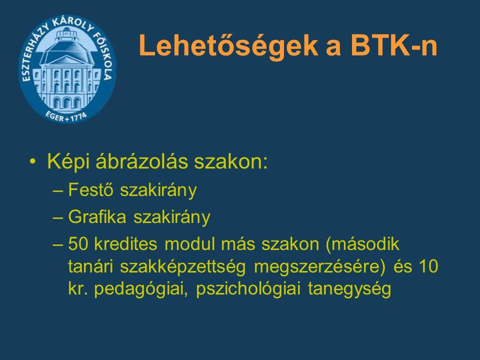 Lehetőségek a BTK-n Képi ábrázolás szakon: Festő szakirány