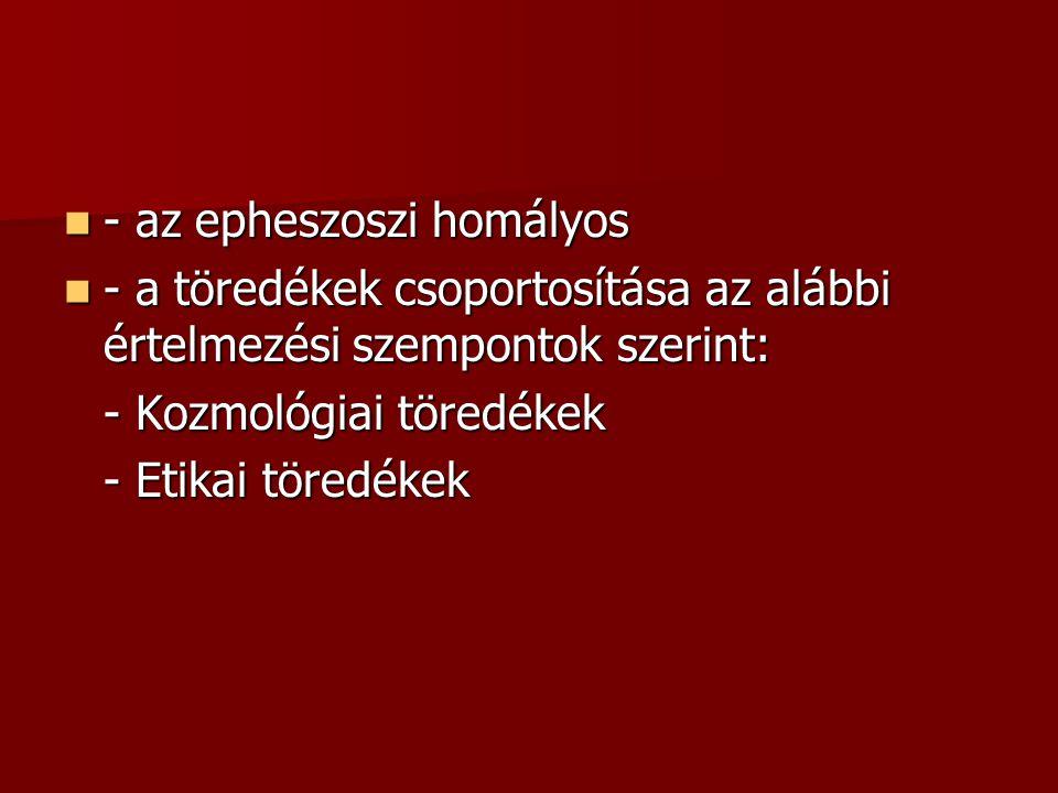 - az epheszoszi homályos