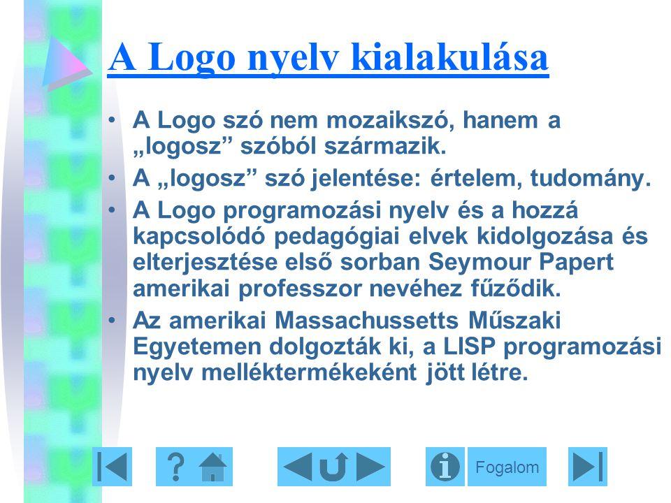 A Logo nyelv kialakulása