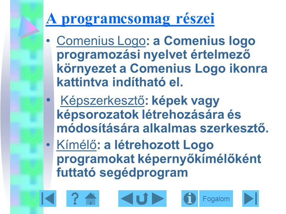 A programcsomag részei