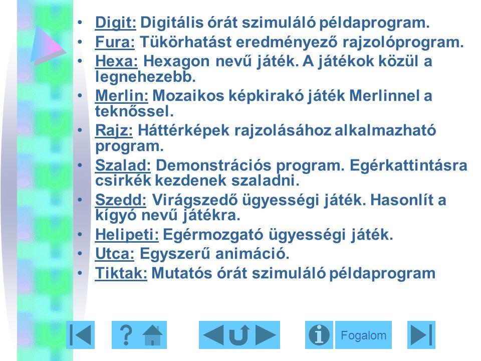 Digit: Digitális órát szimuláló példaprogram.