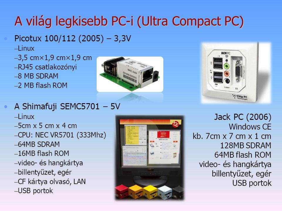 A világ legkisebb PC-i (Ultra Compact PC)