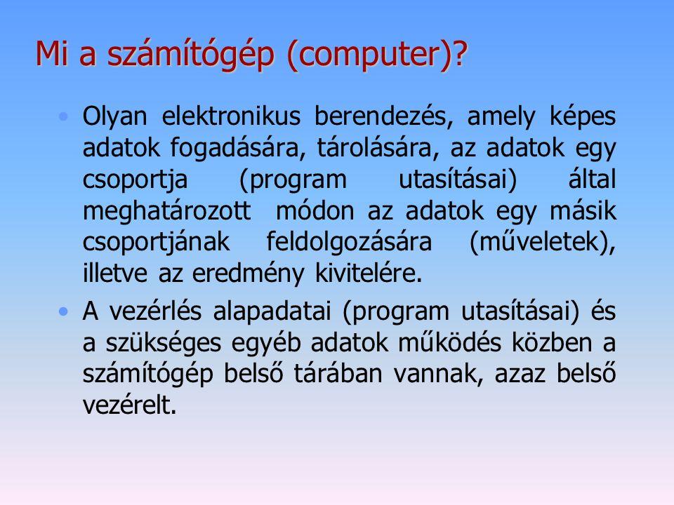 Mi a számítógép (computer)