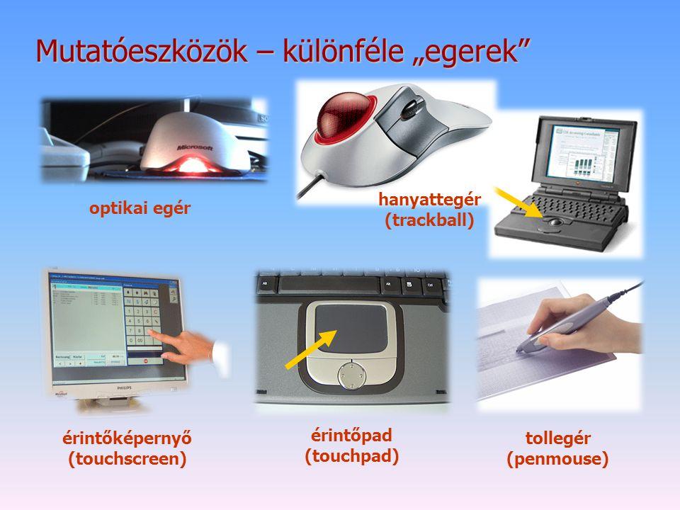 """Mutatóeszközök – különféle """"egerek"""