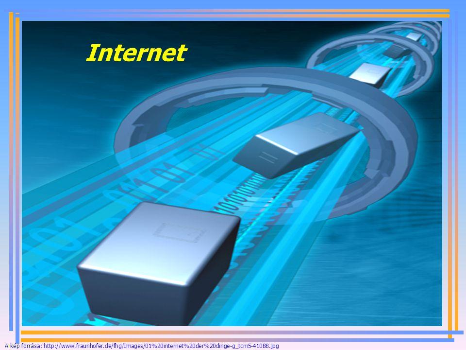 Internet A kép forrása: http://www.fraunhofer.de/fhg/Images/01%20internet%20der%20dinge-g_tcm5-41088.jpg.
