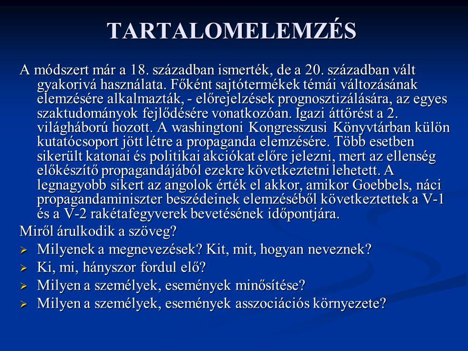 TARTALOMELEMZÉS