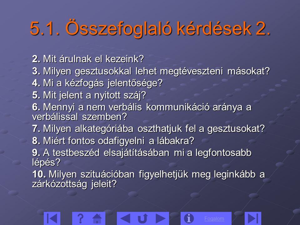 5.1. Összefoglaló kérdések 2.