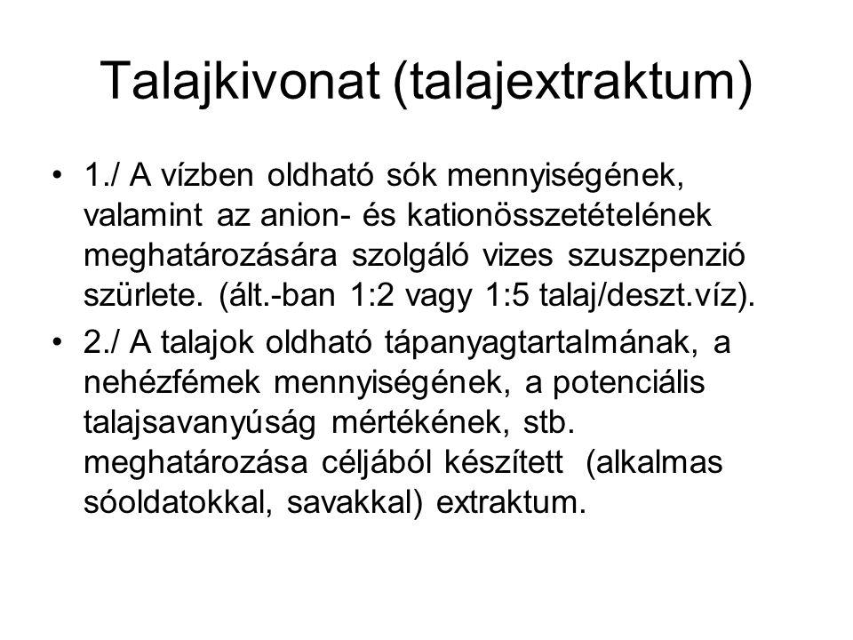 Talajkivonat (talajextraktum)