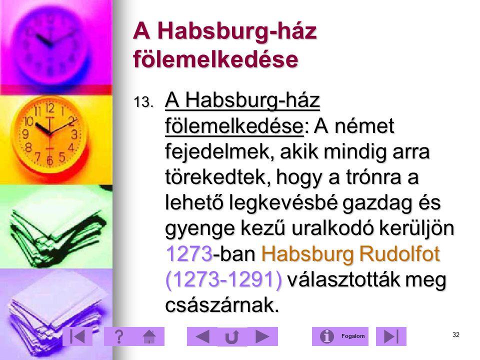 A Habsburg-ház fölemelkedése