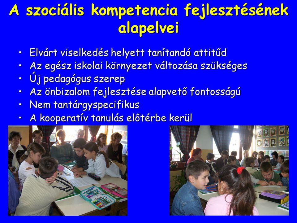 A szociális kompetencia fejlesztésének alapelvei