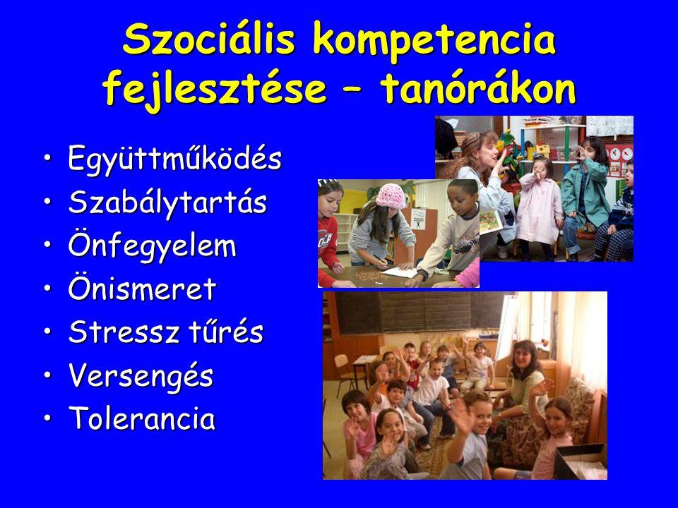 Szociális kompetencia fejlesztése – tanórákon