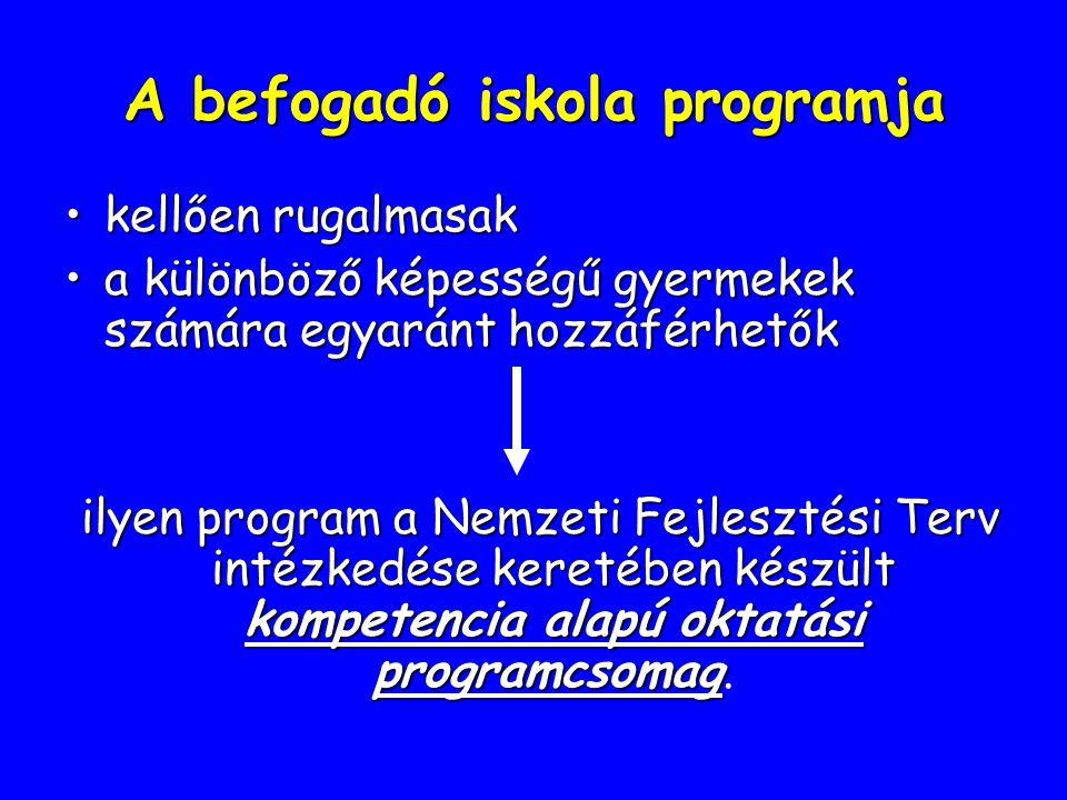 A befogadó iskola programja