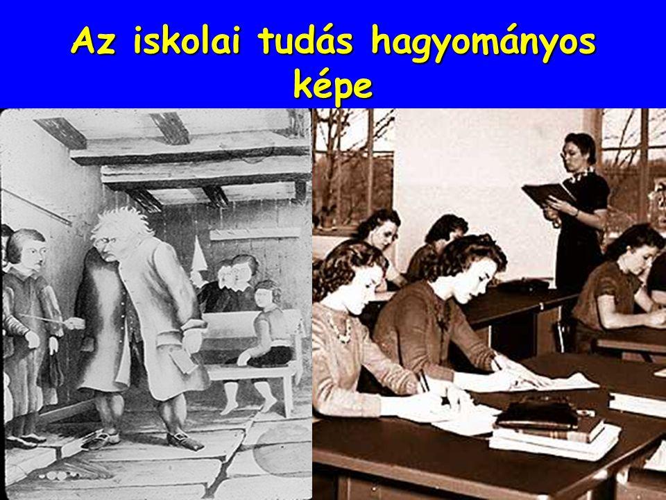 Az iskolai tudás hagyományos képe