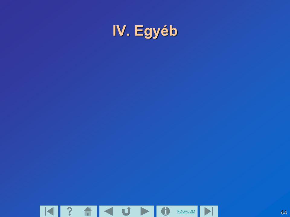 IV. Egyéb
