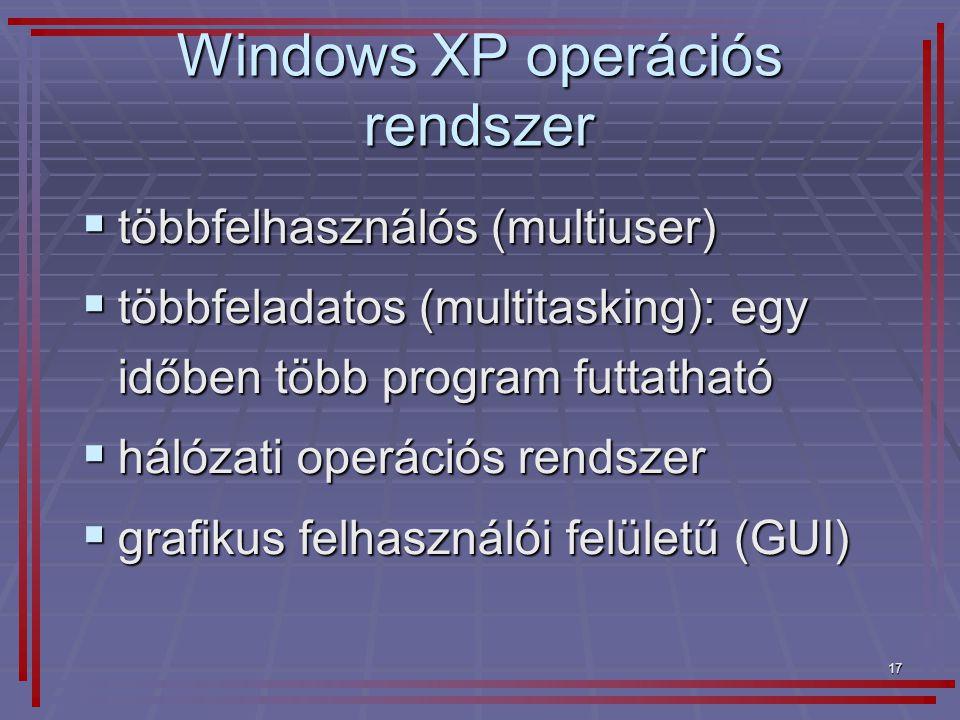 Windows XP operációs rendszer