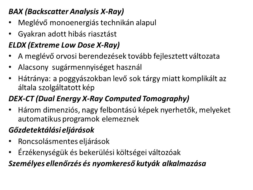 BAX (Backscatter Analysis X-Ray)