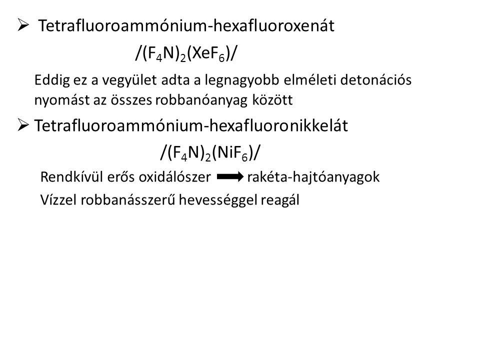 Tetrafluoroammónium-hexafluoroxenát /(F4N)2(XeF6)/