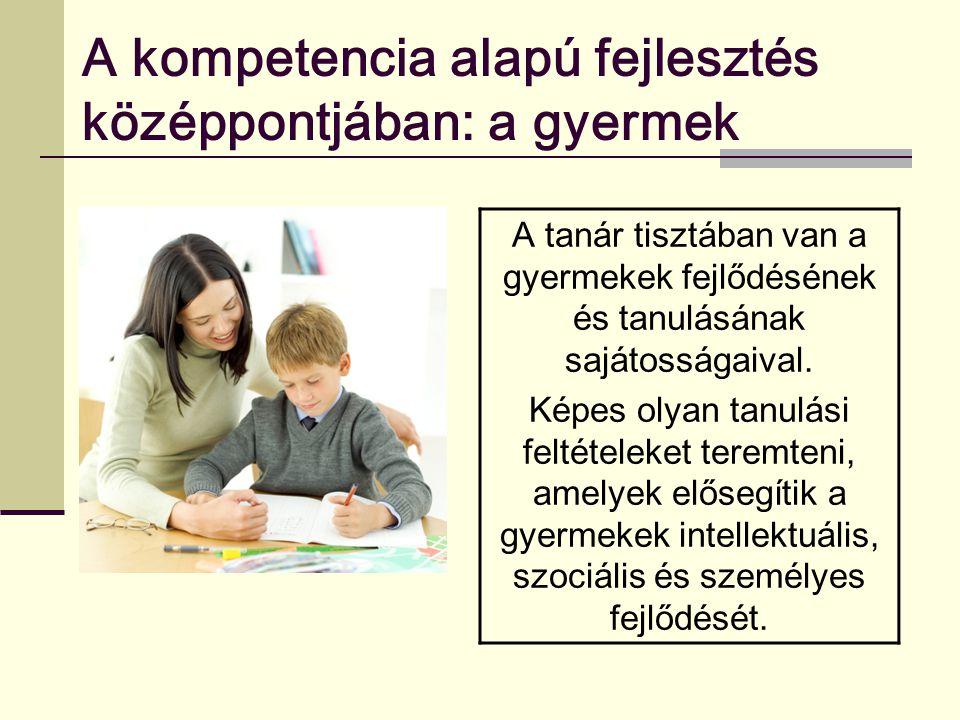 A kompetencia alapú fejlesztés középpontjában: a gyermek