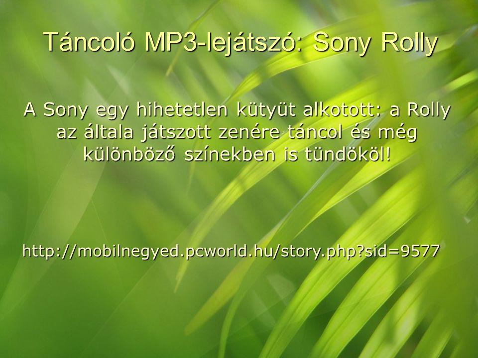 Táncoló MP3-lejátszó: Sony Rolly