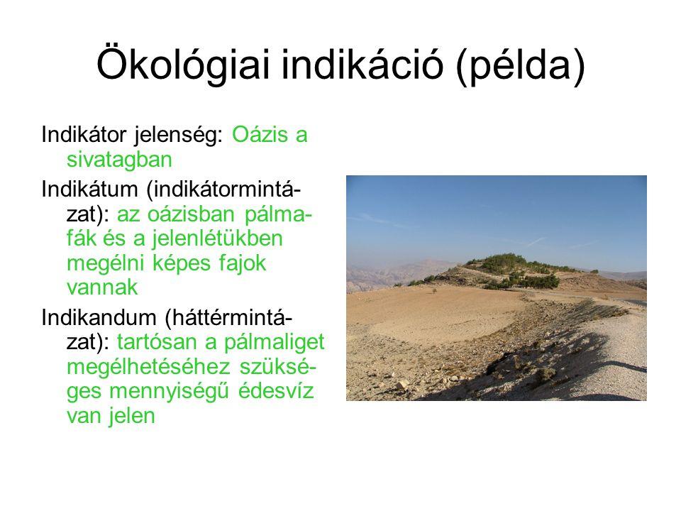 Ökológiai indikáció (példa)