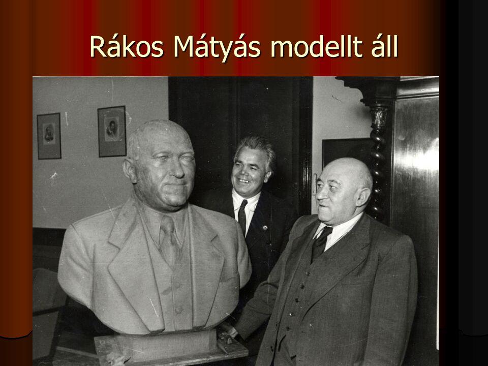 Rákos Mátyás modellt áll