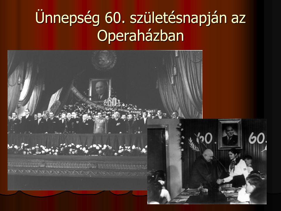 Ünnepség 60. születésnapján az Operaházban
