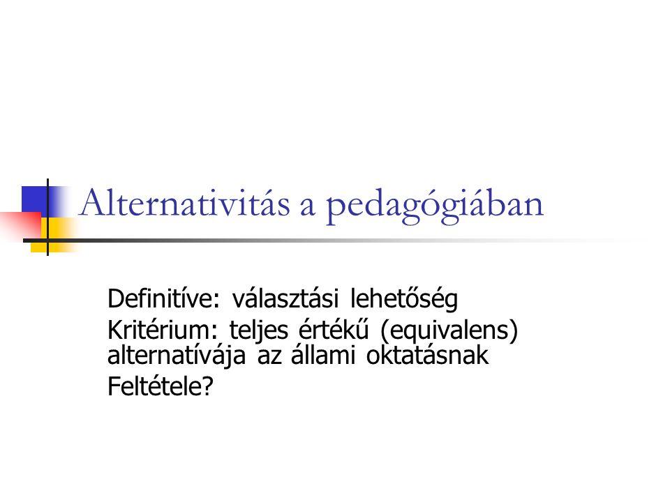 Alternativitás a pedagógiában