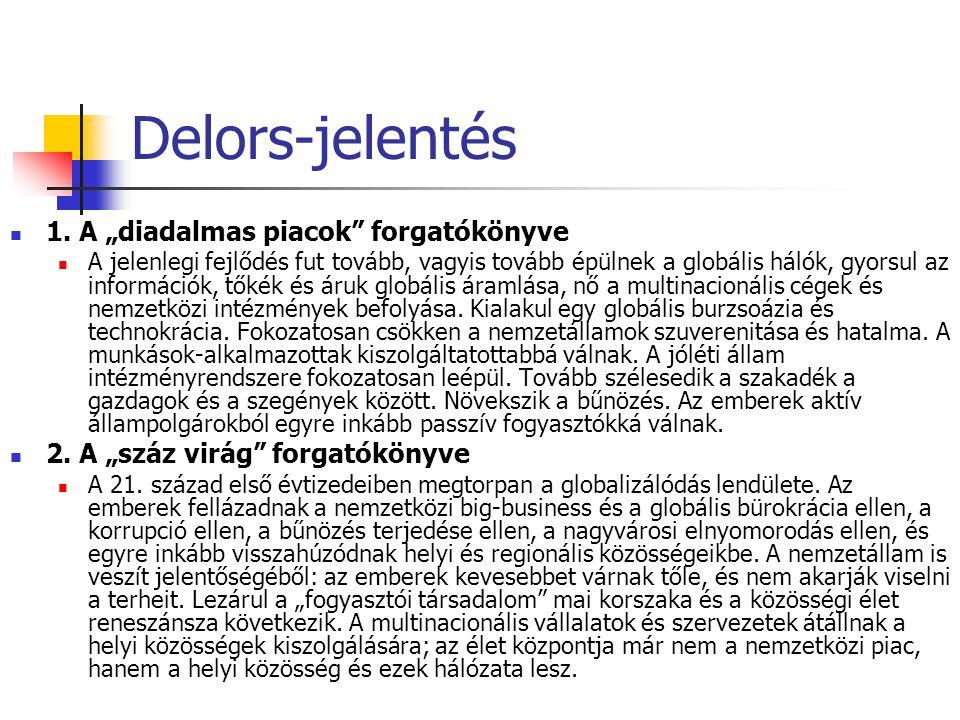 """Delors-jelentés 1. A """"diadalmas piacok forgatókönyve"""
