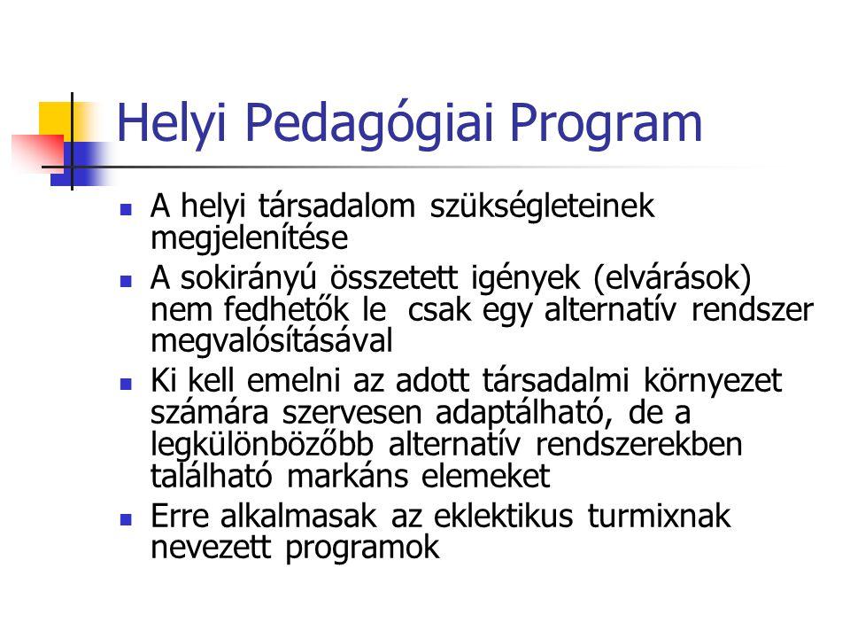 Helyi Pedagógiai Program