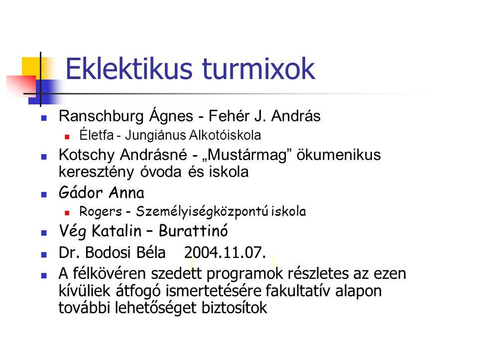 Eklektikus turmixok Ranschburg Ágnes - Fehér J. András
