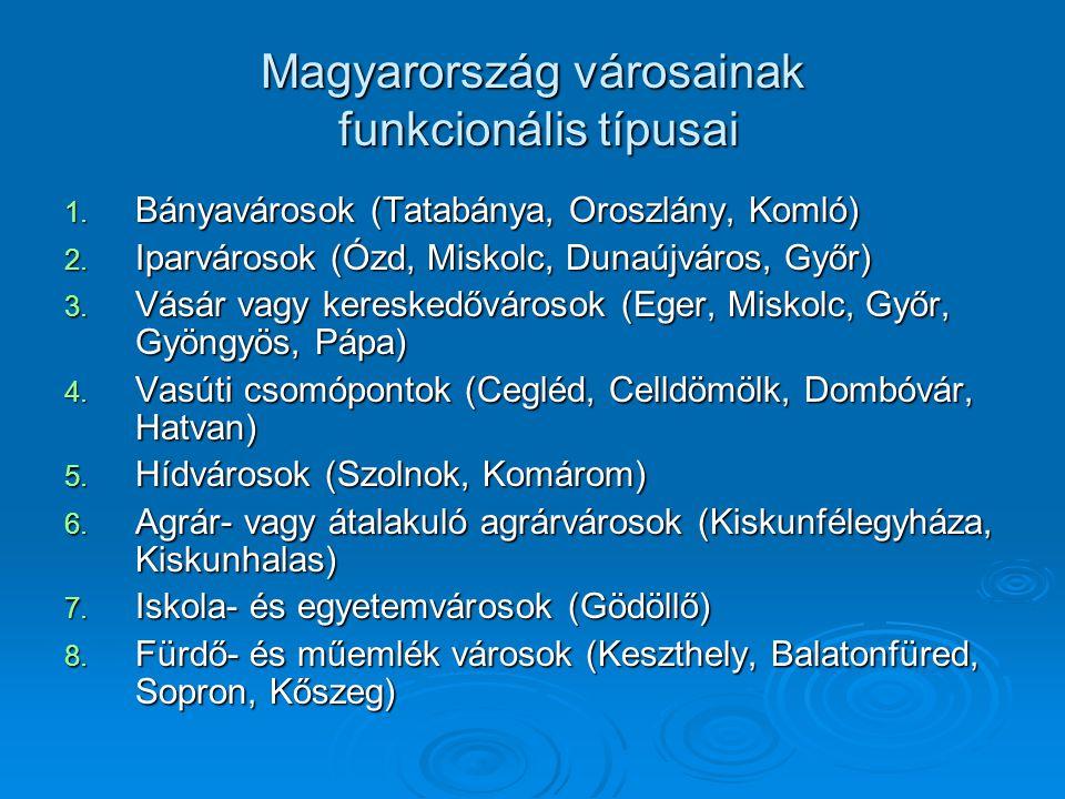 Magyarország városainak funkcionális típusai