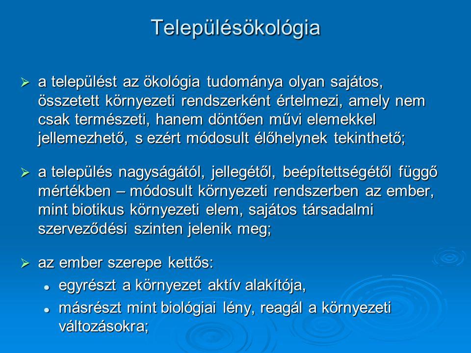 Településökológia